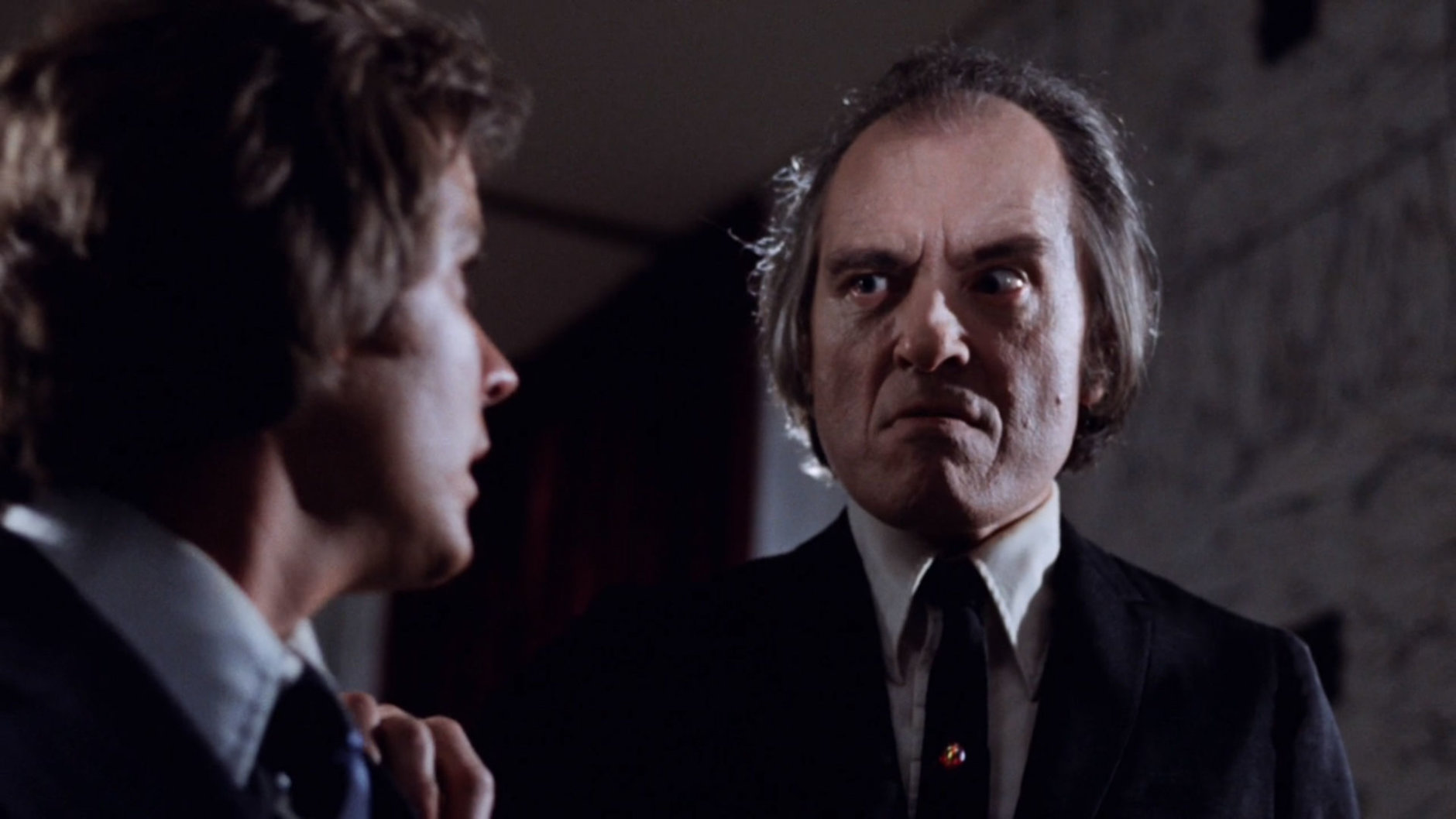 "Angus Scrimm grabs Bill Thornbury in ""Phantasm."" (Courtesy Silver Sphere Productions)"