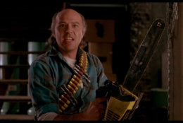 "Reggie Bannister is ready for action in ""Phantasm II."" (Courtesy Silver Sphere Productions)"