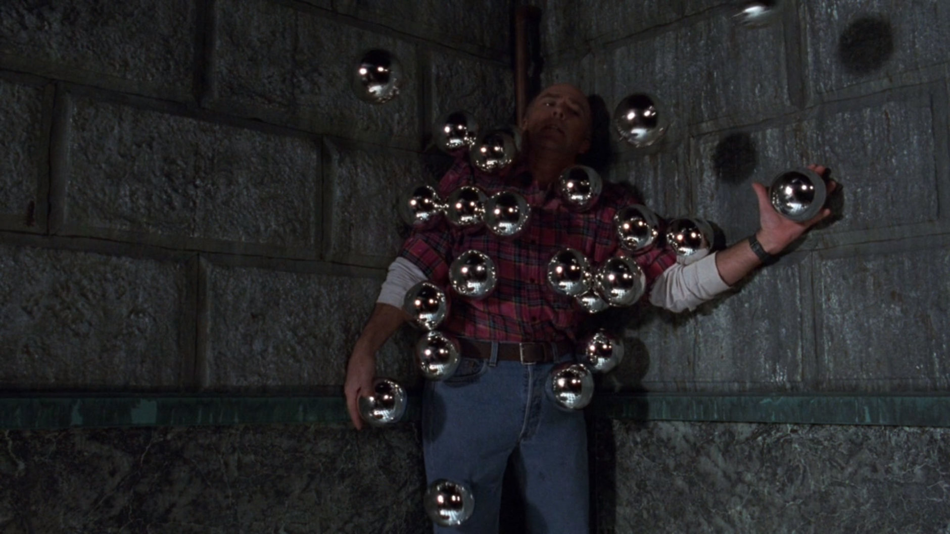 "Reggie is ""balls to the wall"" in ""Phantasm III:  Lord of the Dead"" which also saw the return of Michael Baldwin. (Courtesy Silver Sphere Productions)"