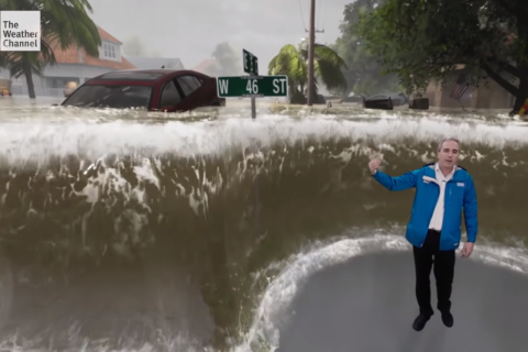 WATCH: Weather Channel's augmented reality illustrates storm surge dangers