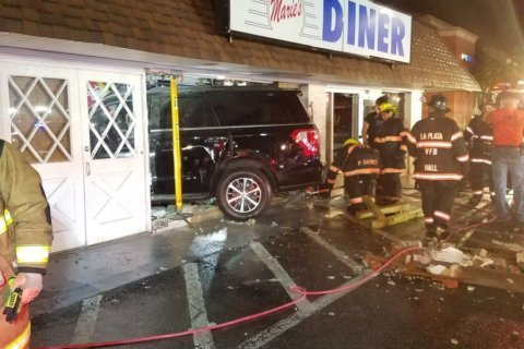 PHOTOS: 4 hospitalized after SUV slams into Charles Co. diner