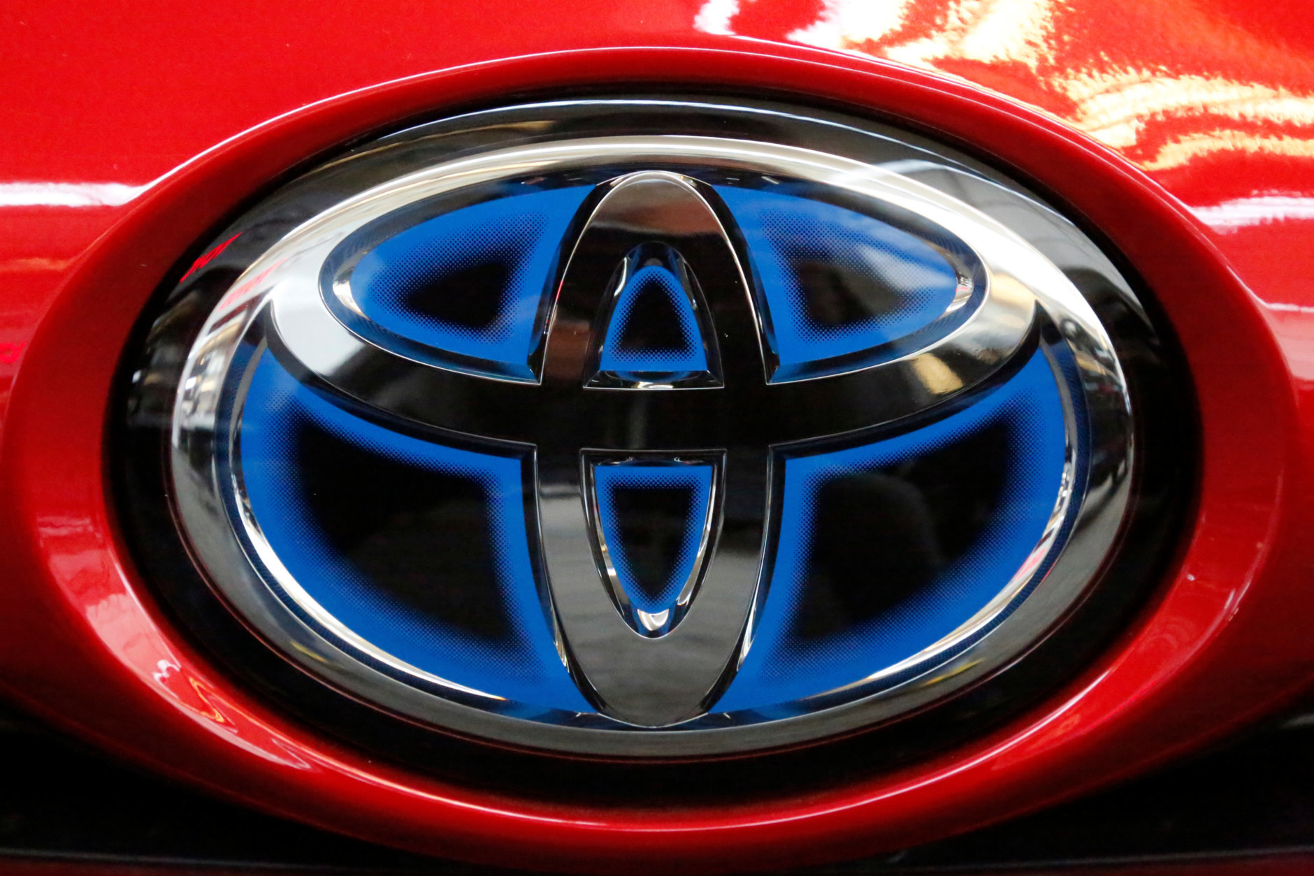 The Toyota Camry from 2017 is NO. 5 most stolen vehicles over all. FILE- This Feb. 15, 2018, file photo shows the Toyota logo on the trunk of a 2018 Toyota Prius on display at the Pittsburgh Auto Show. Toyota Motor Corp. is reporting its quarterly profit rose 21 percent as cost cuts and booming sales in some markets offset the damage from higher U.S. incentives.  Toyota, which makes the Camry sedan, Prius hybrid and Lexus luxury models, reported Wednesday, May 9, 2018,  January-March profit of 480.8 billion yen ($4.4 billion), up from 398 billion yen the same quarter the previous year. (AP Photo/Gene J. Puskar, File)