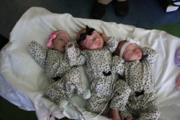 Born at Walter Reed Military Medical Center in Bethesda, Maryland, and separated at birth so Julia could get care at Children's National in D.C., Julia meets sisters Rose, in the middle, and Elise for a reunion. (Courtesy Abigail Rueger)