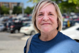 Carolyn Adams of Columbia is an enthusiastic voter, even though she doubts her candidate will win. (WTOP/Kate Ryan)
