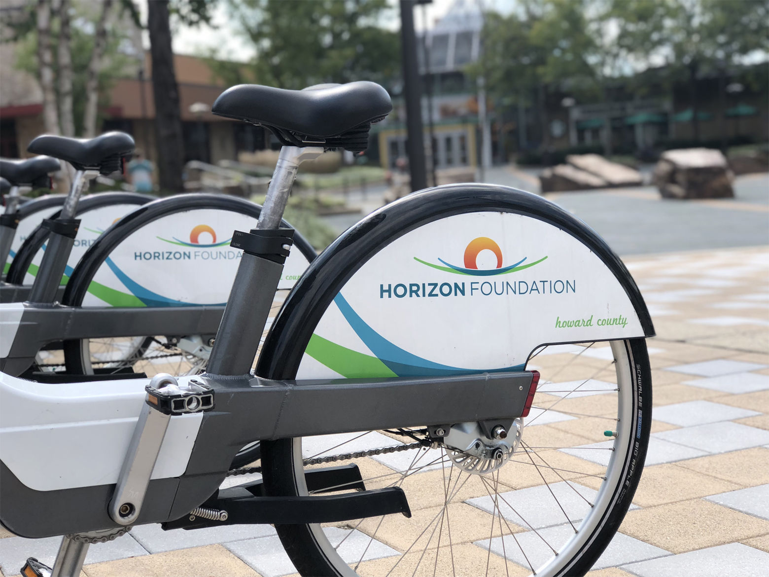 Transportation in Howard County : Columbia's walkable community has also worked to become more bikeable. (WTOP/Kate Ryan)