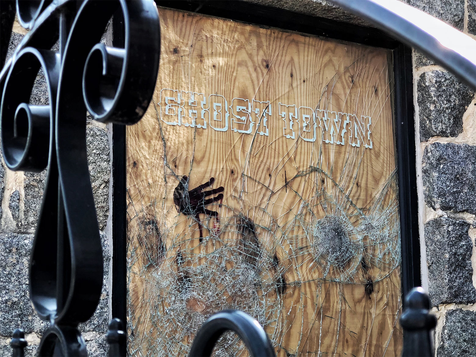 Outside the Ghost Town Tattoo Parlor in Ellicott City. (WTOP/Kate Ryan)