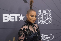 Janet Jackson attends the Black Girls Rock! Awards at New Jersey Performing Arts Center on Sunday, Aug. 26, 2018, in Newark, N.J. (Photo by Charles Sykes/Invision/AP)