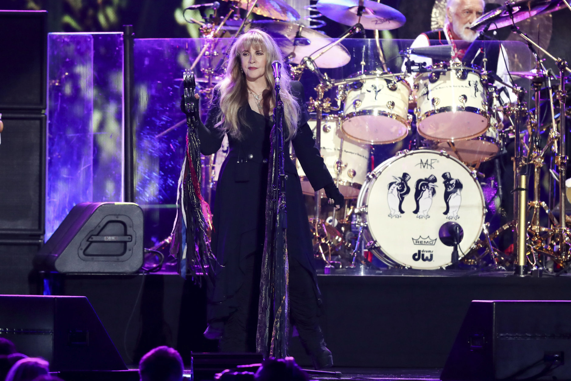 Stevie Nicks of the band Fleetwood Mac performs at the 2018 iHeartRadio Music Festival Day 1 held at T-Mobile Arena on Friday, Sept. 21, 2018, in Las Vegas. (Photo by John Salangsang/Invision/AP)