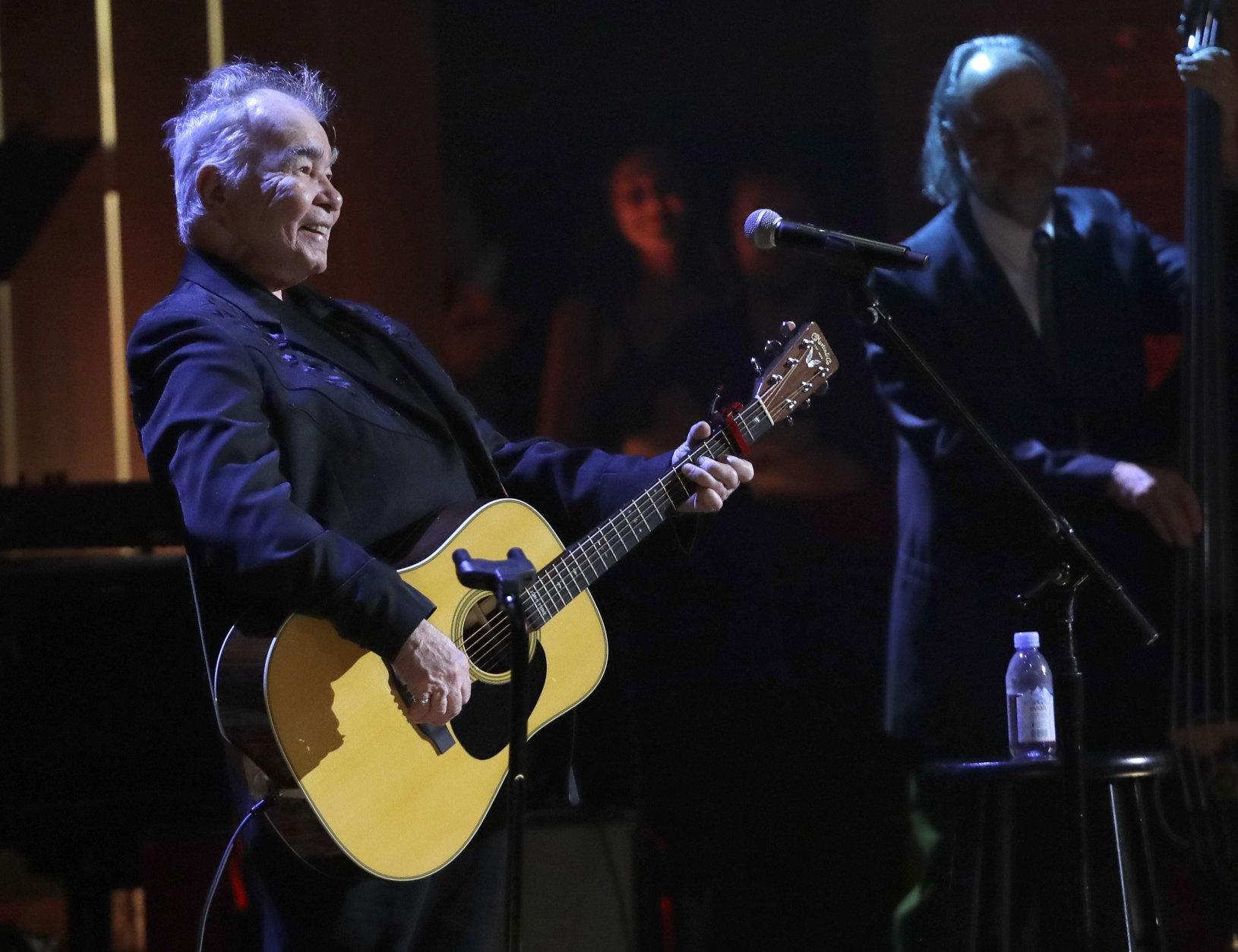 John Prine performs during the Americana Honors and Awards show, Wednesday, Sept. 12, 2018, in Nashville, Tenn. (AP Photo/Mark Zaleski)