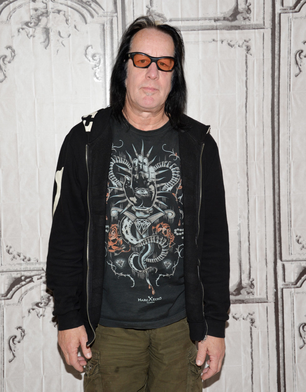 """Musician Todd Rundgren participates in AOL's BUILD Speaker Series to discuss his new album """"Global"""" at AOL Studios on Wednesday, May 6, 2015, in New York. (Photo by Evan Agostini/Invision/AP)"""