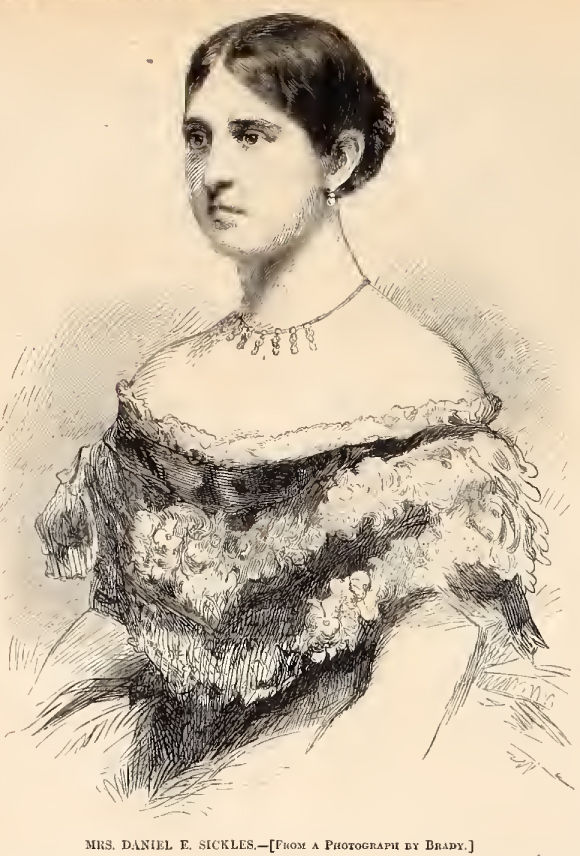 1895 illustration of Teresa Bagioli Sickles. (Courtesy Harper's Weekly)