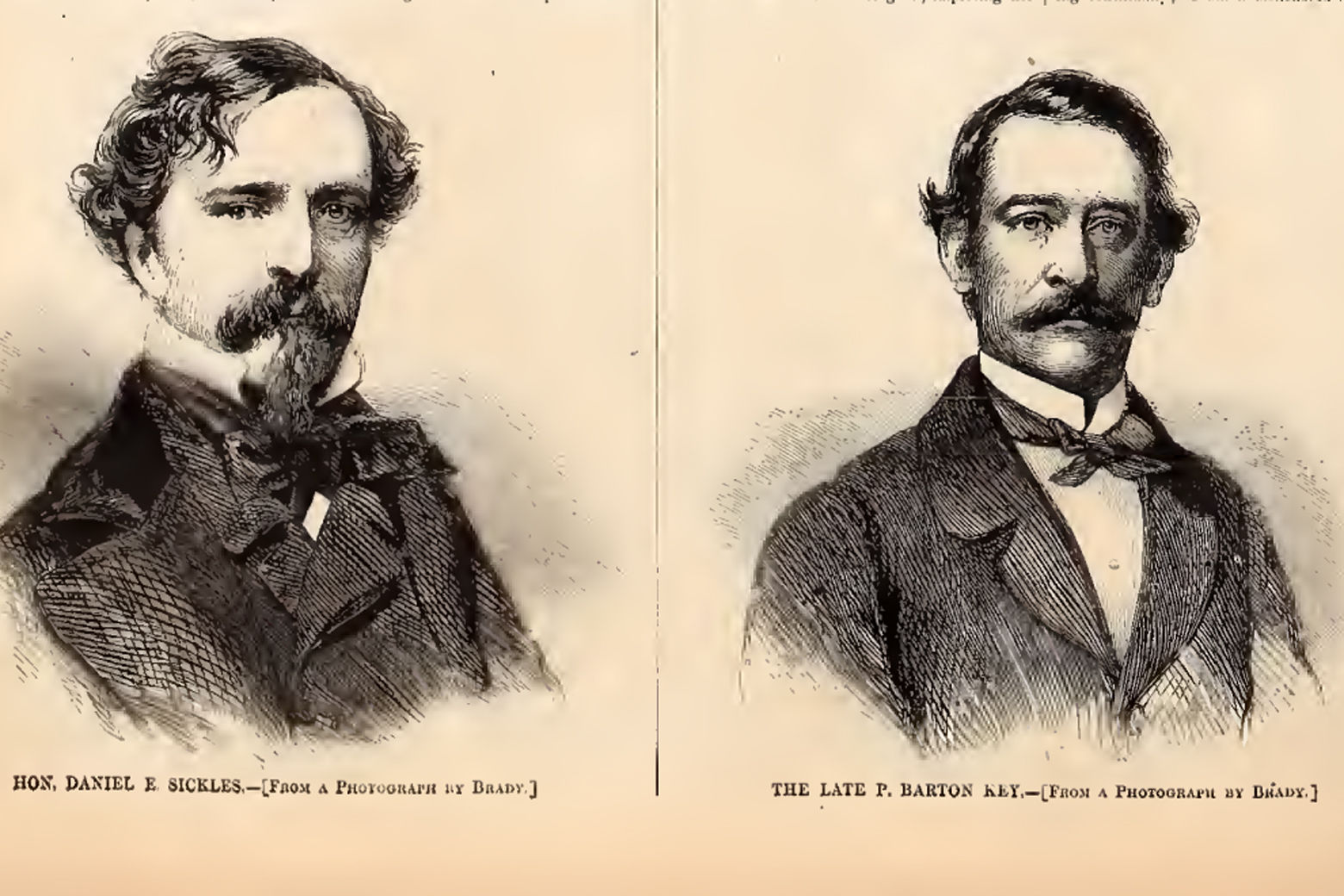 Daniel Sickles and Barton Key. (Courtesy Harper's Weekly)