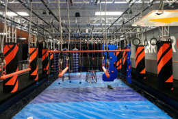 Sky Zone trampoline parks feature wall-to-wall, multiple connected trampolines. The Sterling location will also have a ropes course, multi-player action games, a zip line and a virtual reality experience. (Courtesy Sky Zone)
