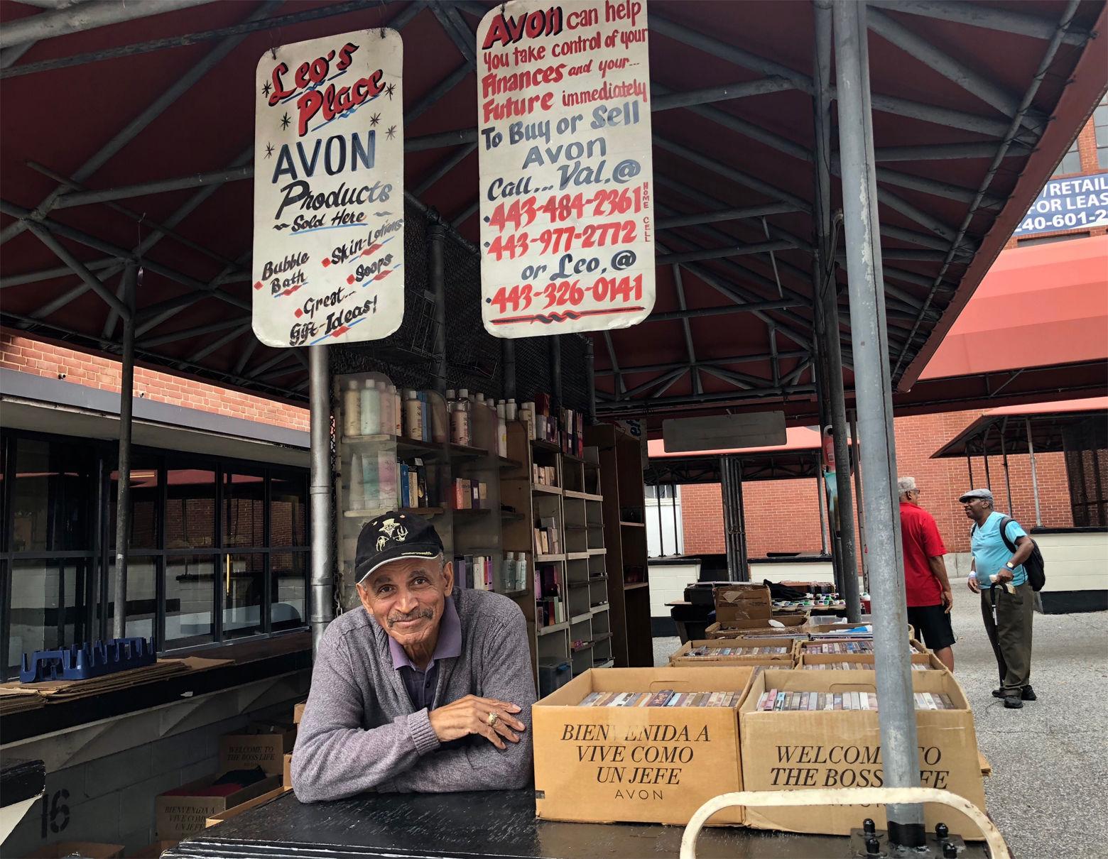 Leo Fonseca's spot at Lexington Market in Baltimore. (WTOP/Kate Ryan)