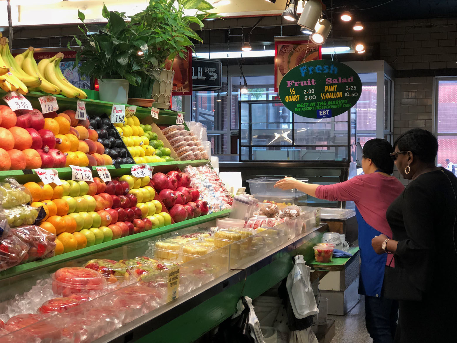 From fresh fish to fresh fruit, Lexington Market has it. (WTOP/Kate Ryan)