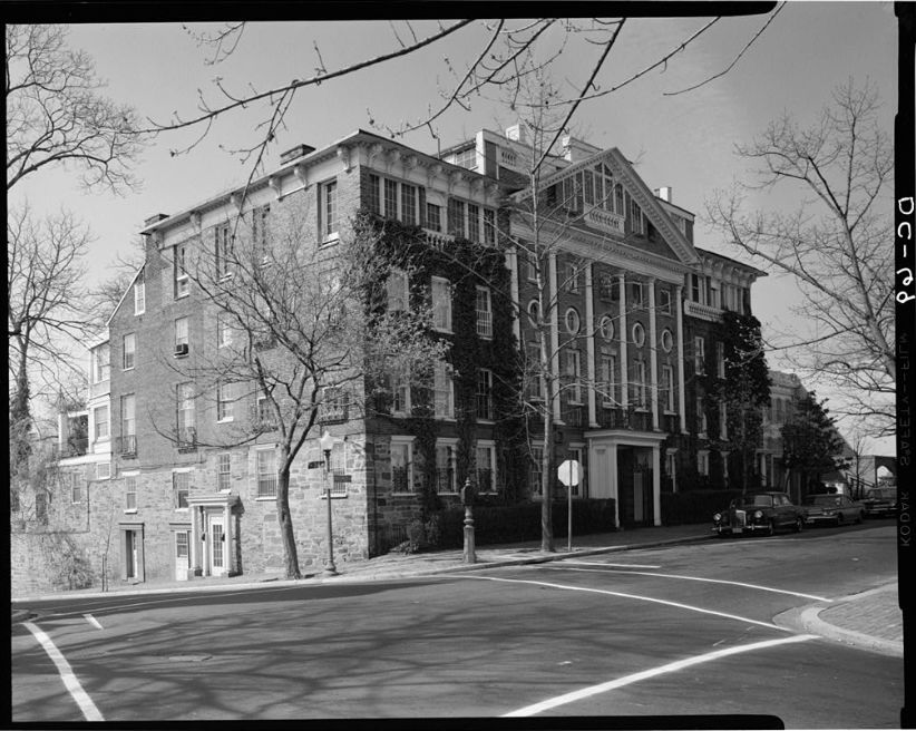 Halcyon House in 1968 during a National Parks Service survey. (Courtesy Library of Congress)