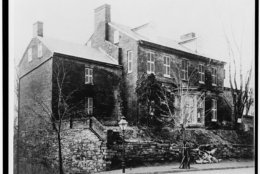 Halcyon House before Albert Clemons' bizarre 1900 alterations. (Courtesy Library of Congress)