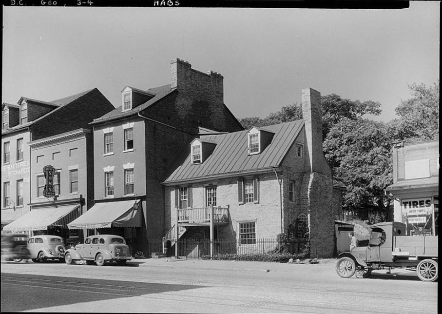 Old Stone House during a post-1933 National Park Service Survey. (Courtesy Library of Congress)