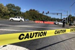 One person was critically injured in a shooting Oct. 23 along Suitland Parkway. (WTOP/Kristi King)