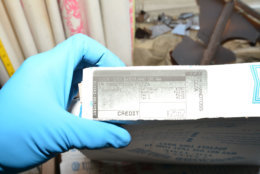 A Domino's pizza box from one of the two pizzas delivered to the Savopoulos house while the vicims were being held captive inside. The order was made using Amy Savopoulos' credit card and instructions were given to the delivery driver to leave the pizzas on the front porch.  Investigators found Wint's DNA on an uneaten crust of one of the pizzas, linking him to the killings. (Courtesy U.S. Attorney's Office)