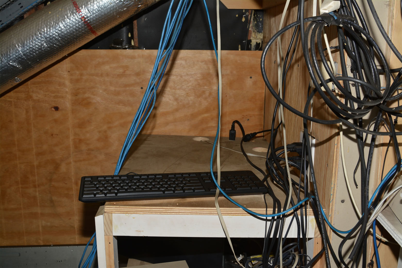 A computer containing video footage from the house's surveillance system was removed from a utilty closet in the house's attic. Several hours after the family was taken captive, prosecutors said Daron Wint made Savvas Savopoulos send a string of emails to their security company asking questions about how the security system worked. In particular, he wanted to know if the video footage was stored off-site in the cloud. It wasn't -- all the footage was stored on a local hard drive. The computer was stolen from the house and never recovered. (Courtesy U.S. Attorney's Office for D.C.)