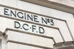 outside D.C.'s Engine Company 3. Some believe the firehouse, just blocks from the Capitol, is hanted by a ghost. (WTOP/John Aaron)
