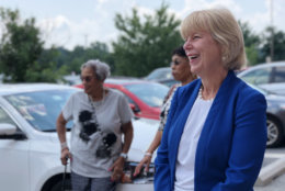 """Nancy Floreen has temporarily jettisoned her Democratic Party affiliation to run as an independent. """"I have a real track record of rolling up my sleeves and building consensus and getting things done,"""" she says. (WTOP/Kate Ryan)"""