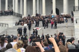 Police said they will also clear the East Plaza of the Capitol of several hundred demonstrators. (WTOP/Dick Uliano)