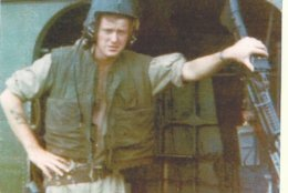 Steve Bozeman at 20 years old in 1967. He was a door gunner on a helicopter during the Vietnam War. (Courtesy Steve Bozeman)