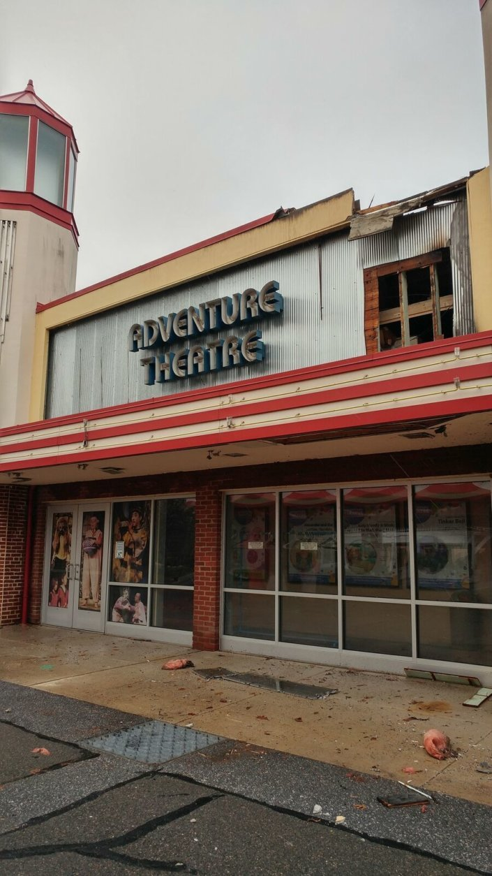 The outside of the Adventure Theater MTC is seen after an electrical fire that cased extensive damage seven months ago (Courtesy Adventure Theater MTC)