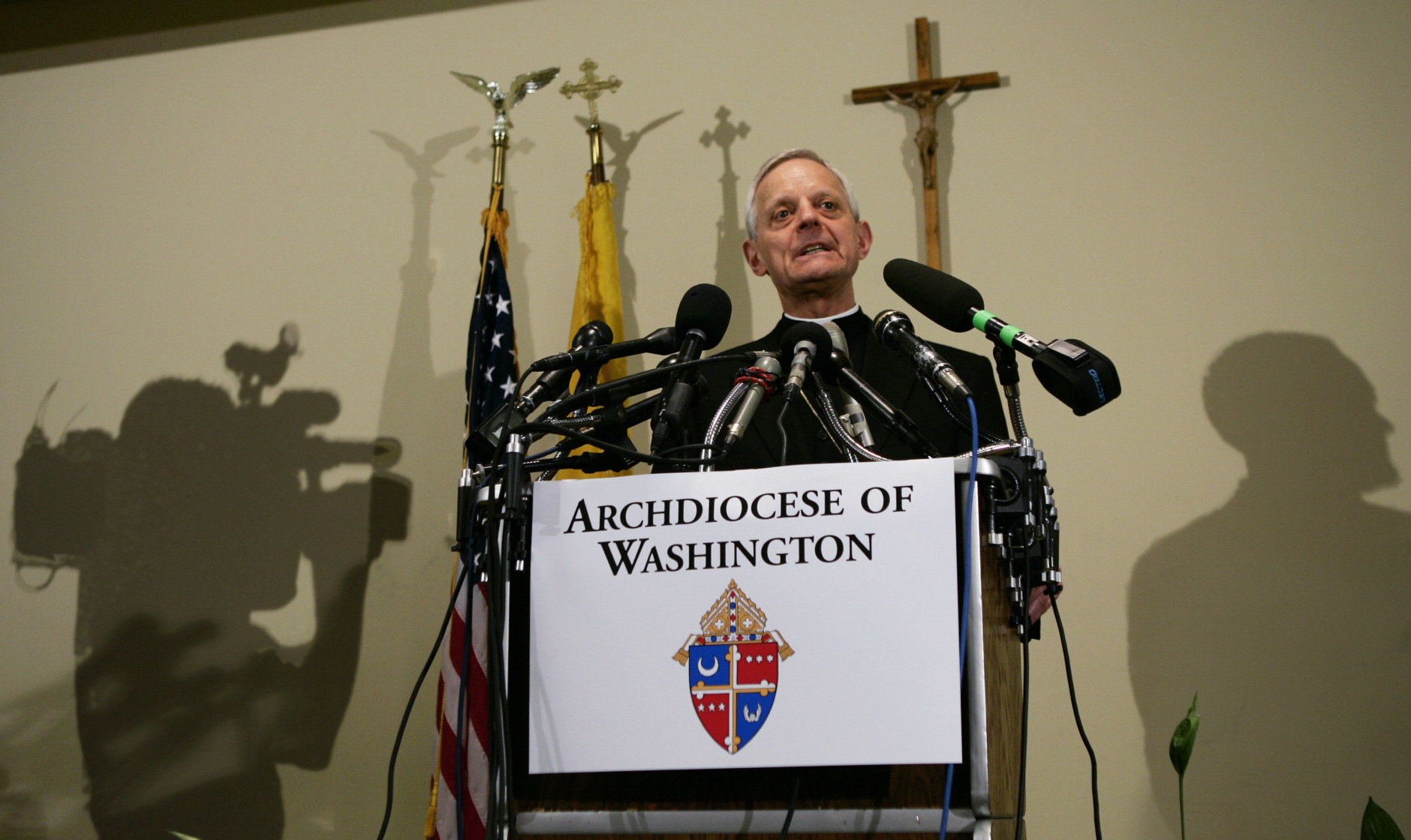 Pittsburgh Bishop Donald Wuerl, named by Pope Benedict XVI to become the next archbishop of Washington, speaks at an introductory press conference at the Archdiocese of Washington, Tuesday, May 16, 2006. Wuerl, 65, will succeed Cardinal Theodore McCarrick, Washington's archbishop since 2001, who has resigned at age 75 in keeping with church law.  (AP Photo/J. Scott Applewhite)