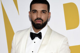 """FILE - In this June 26, 2017, file photo, Canadian rapper Drake arrives at the NBA Awards in New York. Drake is going on tour. He announced the Aubrey and The Three Amigos tour on Monday, May 14, 2018. Drake will be joined by """"Walk It Talk It"""" collaborators Migos and special guests on the North American leg through the summer and fall. (Photo by Evan Agostini/Invision/AP, File)"""