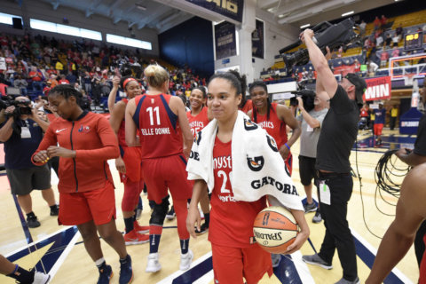 Mystics beat Sky 103-85 for 2nd win in new arena