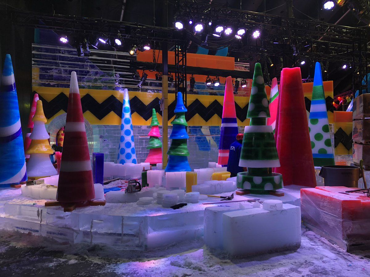 The Charlie Brown Christmas set is the main attraction at the Gaylord National Christmas. (WTOP/Melissa Howell)