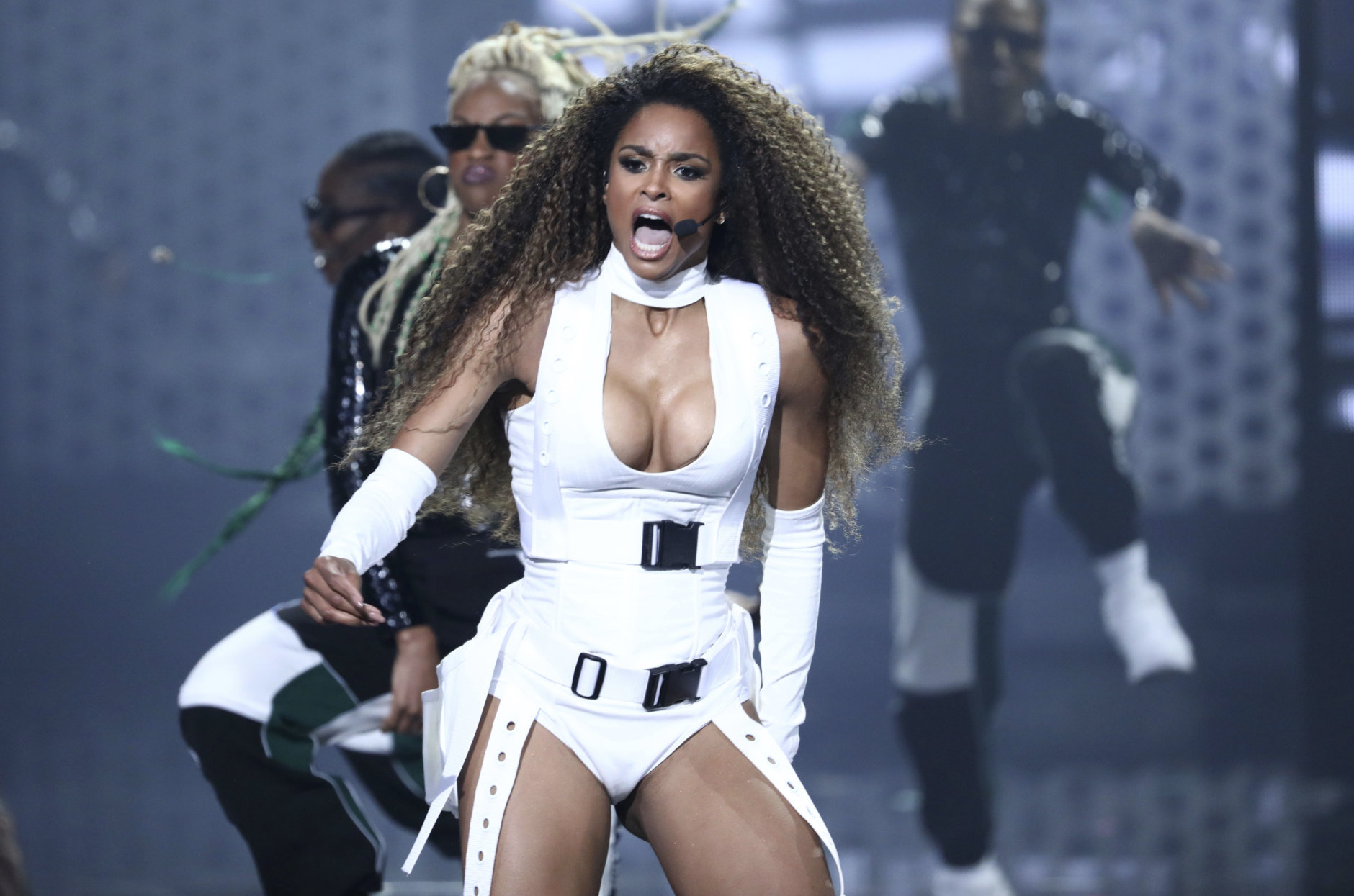 Ciara performs at the American Music Awards on Tuesday, Oct. 9, 2018, at the Microsoft Theater in Los Angeles. (Photo by Matt Sayles/Invision/AP)