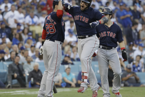 Boston launches 4 homers, beats Dodgers 5-1 to win World Series
