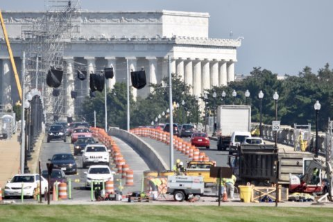 Years of lane closures start Monday on the Arlington Memorial Bridge