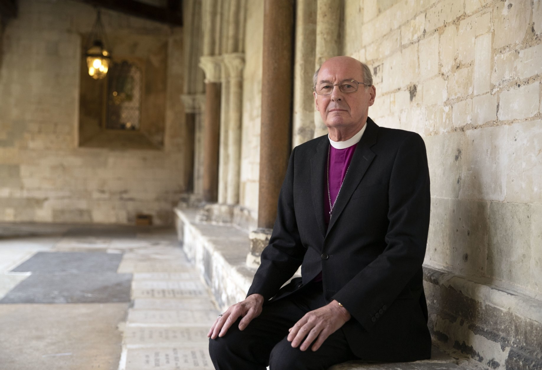 The Rt Revd David Conner, Dean of Windsor, on Thursday Oct. 11, 2018, who will conduct the wedding of Britain's Princess Eugenie and Jack Brooksbank on Friday. (Steve Parsons/Pool via AP)