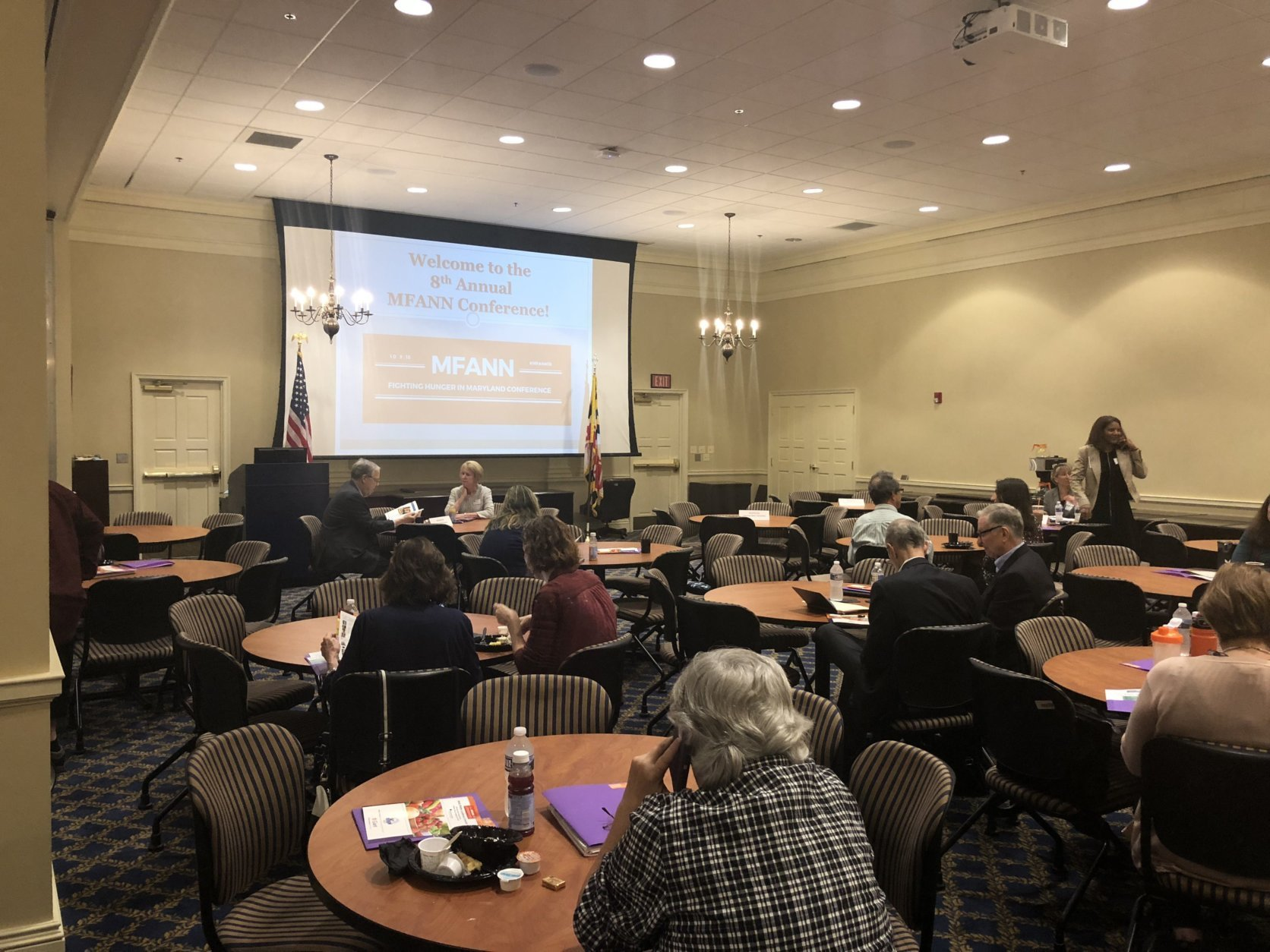The eighth annual Fighting Hunger in Maryland conference was held in Annapolis, Maryland, on Oct. 9, 2018. (Harrison Cann/Capital News Service)