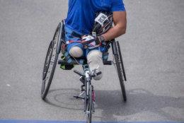 Cedric King at the 2017 Boston Marathon. (Courtesy Joseph Kelley)