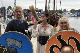 Aboard the Draken, crew members dress the part. (WTOP/Kristi King)