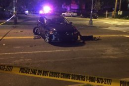 D.C. police say the passenger in the striking car died. (WTOP/John Domen