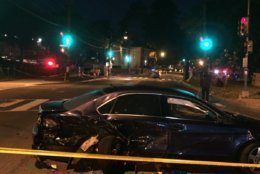 An early morning crash in Southwest D.C. has left one person dead and four other injured. (WTOP/John Domen)