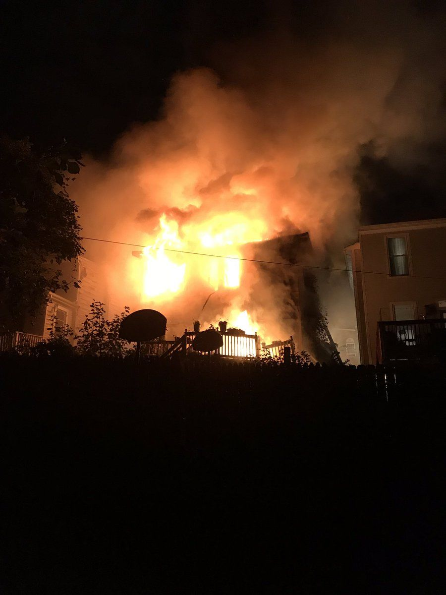 Three firefighters and a person inside the home were taken to the hospital. (Courtesy D.C. Fire and EMS)