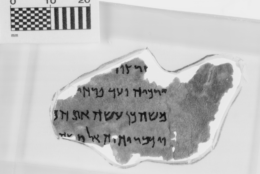 This fragment is identified as Numbers 8:3-5, and it is part of the Museum of the Bible's collection of 16 Dead Sea Scrolls fragments. (Courtesy Museum of the Bible)
