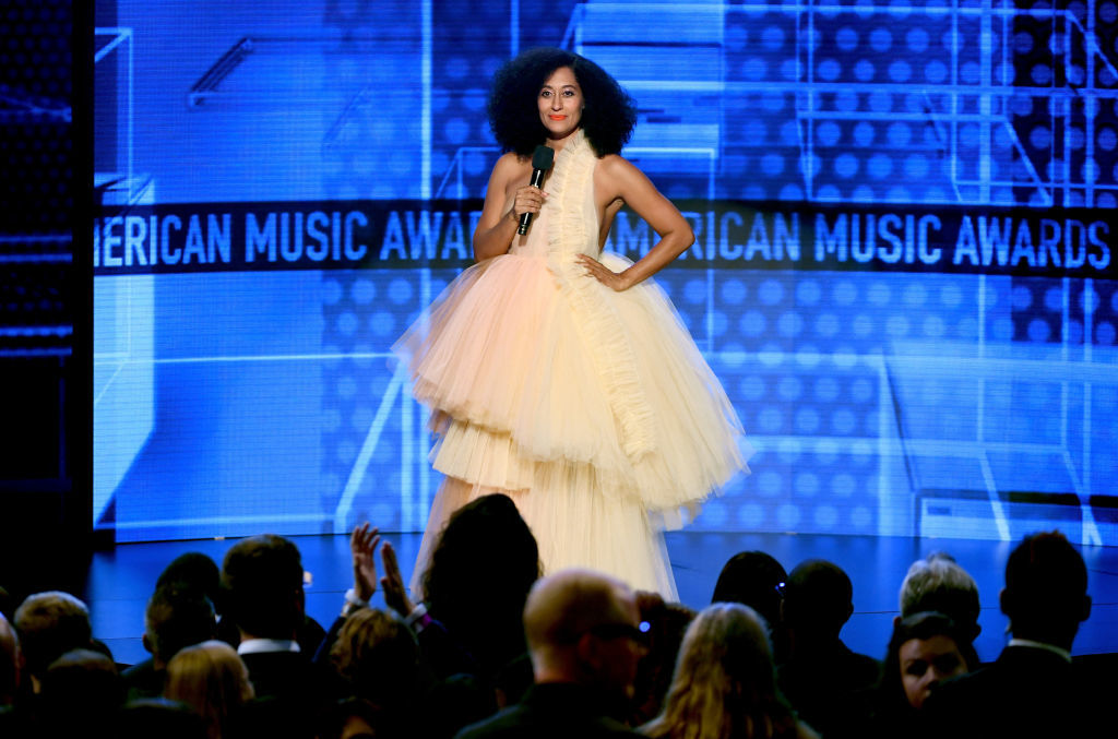 LOS ANGELES, CA - OCTOBER 09:  Tracee Ellis Ross speaks onstage during the 2018 American Music Awards at Microsoft Theater on October 9, 2018 in Los Angeles, California.  (Photo by Kevin Winter/Getty Images For dcp)