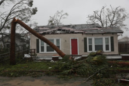 PANAMA CITY, FL - OCTOBER 10:  A damaged home is seen after hurricane Michael passed through the area on October 10, 2018 in Panama City, Florida. The hurricane hit the Florida Panhandle as a category 4 storm.  (Photo by Joe Raedle/Getty Images)