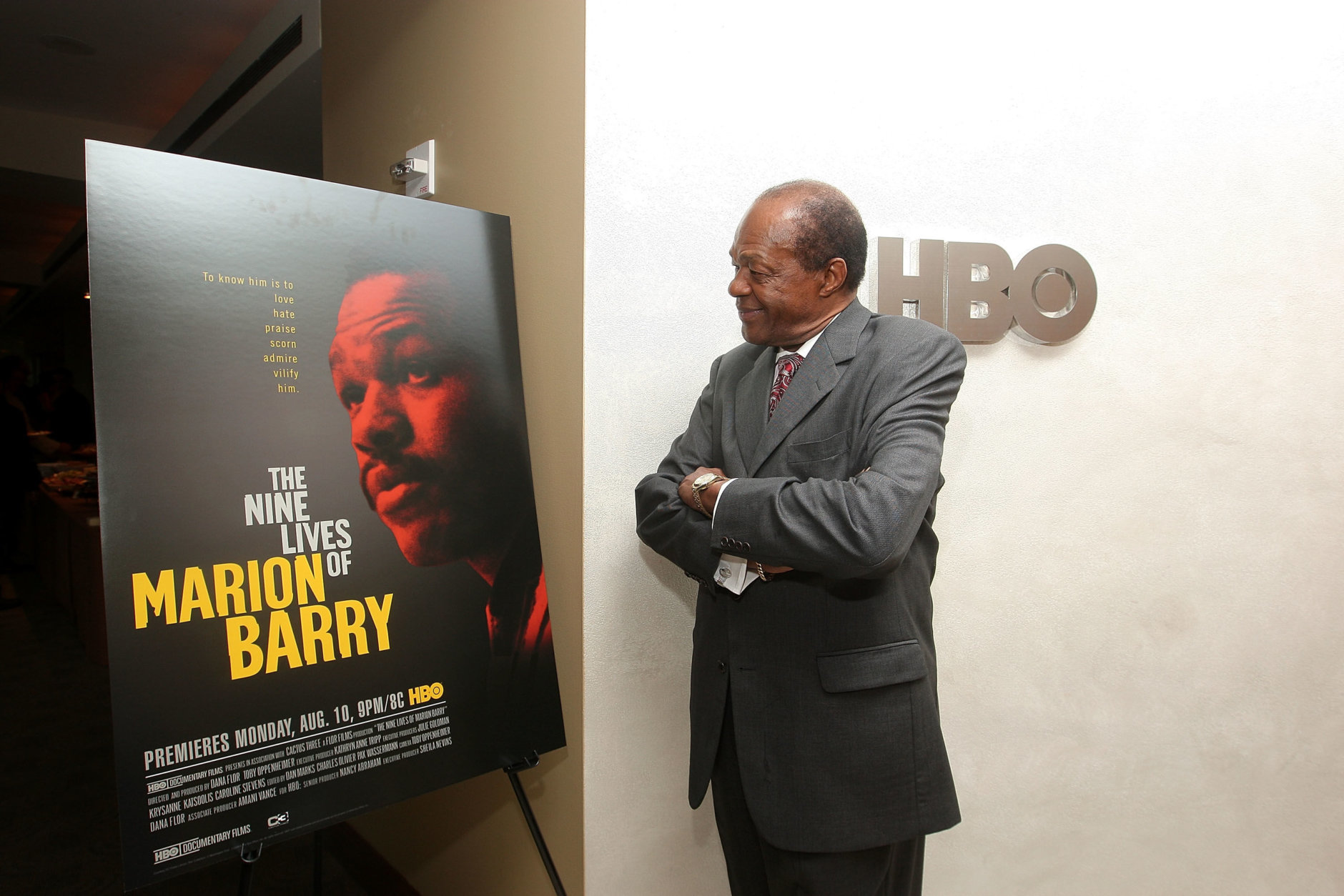 """NEW YORK - AUGUST 06:  Washington Councilman and former Mayor Marion Barry attends the HBO documentary Screening of """"Nine Lives of Marion Barry"""" at the HBO Theater on August 6, 2009 in New York City.  (Photo by Michael Loccisano/Getty Images for HBO)"""