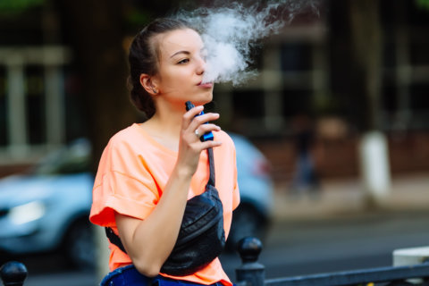 Writing on the bathroom wall? New message for teens on vaping