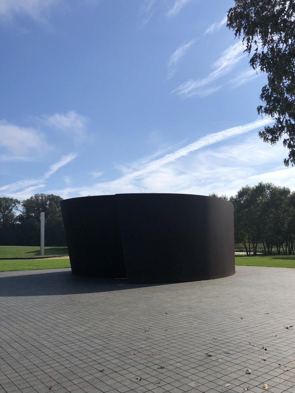Visitors are encouraged to explore the grounds and the outdoor art at Glenstone. (WTOP/Rachel Nania)